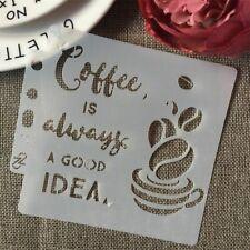 5inch Cup Coffee Idea Words DIY Layering Stencils Painting Scrapbook Coloring Em