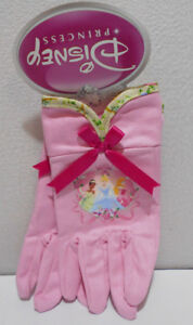 Lot of 3 Pair of Youth Small Gardening Canvas Work Gloves Pink / Disney Princess