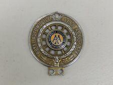 Vintage New Zealand RAC associé Wanganui émail Centre voiture badge Auto emblème