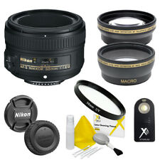 Nikon 50mm f/1.8G AF-S Lens + Accessory Kit for Nikon D7200 D5300 D3400 D3200