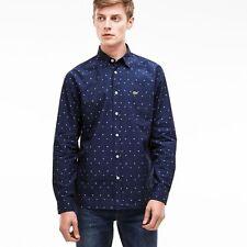 Lacoste Men's Long Sleeve Regular Casual Shirts & Tops