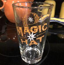 Magic Hat Brewing Company #9 Pint Glass Orange Peach White Very Collectible Euc