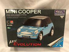 Nikko Mini Cooper Evolution Series R/C 1:24 Car Blue NEW NIB