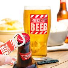 Bicchiere da Birra in Vetro con Apribottiglie in Metallo Emergency Beer Birreria