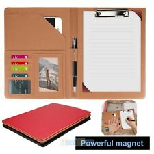 A4 Document File Folder Pu Leather Clipboard Business Bag Notebook Briefcase New