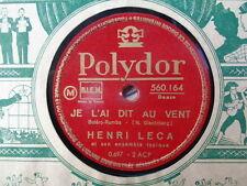 HENRI LECA - Je L'Ai Dit Au Vent / La Ola Marina 78 rpm disc (A+)