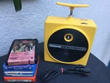 Panasonic Tnt 8-Track Player Yellow Rq-830S works great