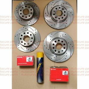 FOR FORD FIESTA ST-2 MK7 12-17 FRONT & REAR DRILLED BRAKE DISCS WITH BREMBO PADS