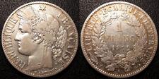 France - IIIème République - 1 franc Cérès 1872 K, Bordeaux QUALITE - F.216/6