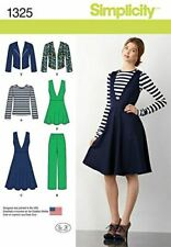 Simplicity Sewing Pattern 1325 Misses Pants Jumper  Jacket Top Size 14-22