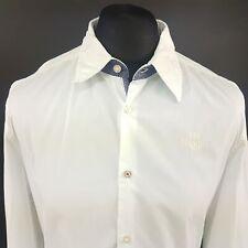 Gaastra Mens Nautical Shirt LARGE Long Sleeve White Regular Fit  Cotton
