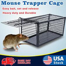 Live Humane Cage Mouse Trap Rat Hamster Catch Control Survival U0O3 Bait Hu N0Z8