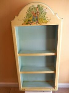 vintage great wood wall shelf,hand painted