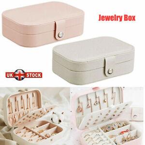 Portable Jewelry Box Organizer Travel Earring Jewellery Ornaments Storage Case