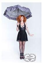 "Patrice Catanzaro ""GLENNA"" Sheer Black Dress Robe Noire / Jurk Zwarte - MEDIUM"