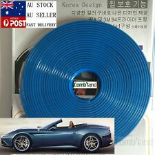 Blue 8M Car Wheel Rim Protector Tire Guard Rubber Moulding Adhesion Promoter