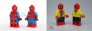 Custom Minifigure Spider-Man Homemade YELLOW JACKET By Phoenix Customs Brick SH