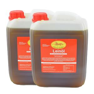 Leinöl 20 Liter = 2 x 10 Liter Kanister - frische Erstpressung, Pferde