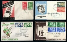 New Zealand - 1944 - 1951 4 x Health Issue First Day Covers