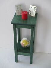 End Table , Small accent table, Side Table - Solid Wood - Hunter Green Stain