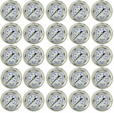 "25 PACK LIQUID FILLED PRESSURE GAUGE 0-2000 PSI, 2"" FACE, 1/4"" BACK MOUNT"
