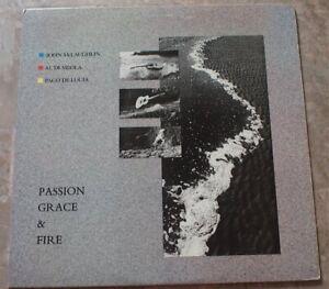 McLaughlin Di Meola & de Lucía Passion Grace & Fire 1983 LP Vinyl NM- FC 38645