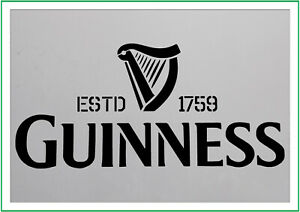 GUINESS (1759) A4 A3 A5 paint spray Reusuable stencil Premium mylar