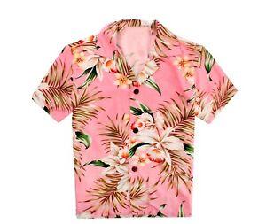 Made in Hawaii Boy Aloha Shirt and Shorts Cabana Set in Orchid Pink