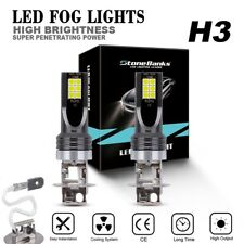 1 Pair H3 60W  Fog Light LED Headlight Conversion Kit Bulbs 6000K White Lamp