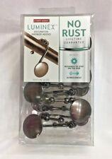 Maytex Mills Luminex Peyton Glide Shower Curtain Hooks,No Rust Oil-Rubbed Bronze