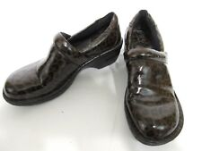 B.O.C. By Born Animal Patent Leather Print Work Clogs Size 7.5