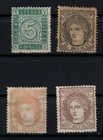 P135040/ SPAIN STAMPS – YEARS 1867 - 1870 MNG CLASSIC LOT – CV 158 $