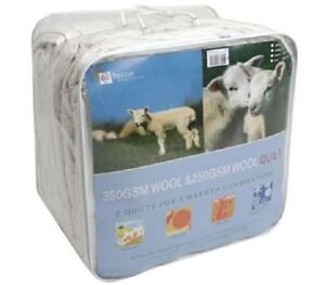 Two Quilts In One All Season Wool Quilt 250GSM & 350GSM (600GSM Ttl)Cotton Cover