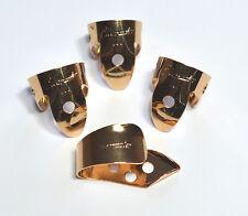 Genuino Oro Plateado Metal Finger Picks & Reforzado Pulgar selección establecidos por Clearwater