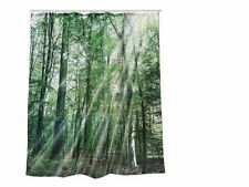 PLASTIC SHOWER CURTAIN, FOREST, CA. 180 X 180 CM FOR HANGING