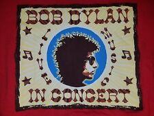 BOB DYLAN IN CONCERT LIVE MUSIC RED T-SHIRT MEDIUM PRE-OWNED FOLK ROCK LEGENDARY