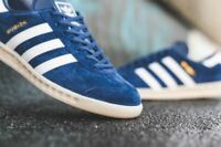 adidas Originals Hamburg / Navy / White/ Men's Leather Trainer /All Sizes EF5788