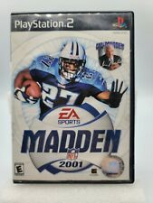 Madden NFL 2001 EA Sports Sony PlayStation 2 PS2 Game TESTED & CLEANED Z21