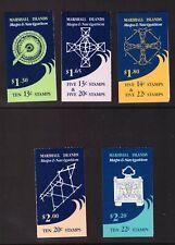 Marshall Islands 1984 -1985 Maps & Navigation 5 Booklet mint stamps