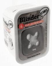 KNOG BLINDER 4 X CROSS Bike Headlight Rear Gunmetal 44 Lumen RED LED USB NEW
