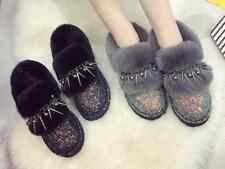 Fashion Womens Tassel Fur Lined Sequins Casual Snow Ankle Boots Shoes Warm Xiemo