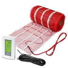Electric Tile Radiant Floor Heat Mat System w/ Aube Digital Thermostat