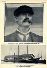 """Tenente Peary & Expedition nave """"Roosevelt"""" * storica memorabile 1909"""