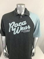 Rocawear Men's Short Sleeve Polo Shirt Size 2XL Color Block Gray And Blue