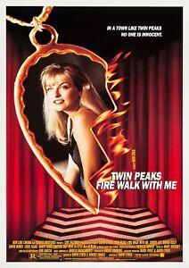 TWIN PEAKS: FIRE WALK WITH ME 1992 David Lynch – Movie Cinema Poster, Film Art
