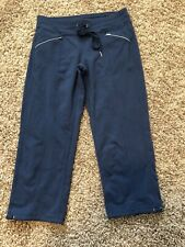 ATHLETA womens M Blue activewear fitness yoga capri pants