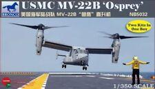 Bronco 1/350 USMC MV-22B Osprey X 2 # NB5032