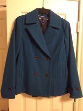 Tommy Hilfiger Teal Pea Coat Size L