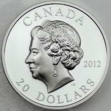 2012 $20 Elizabeth II Diamond Jubilee Ultra High Relief Pure Silver Proof Coin
