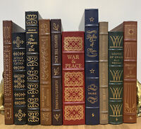 EASTON PRESS LOT OF 10 - Leather - Includes 100 Greatest - Dickens Whitman MORE